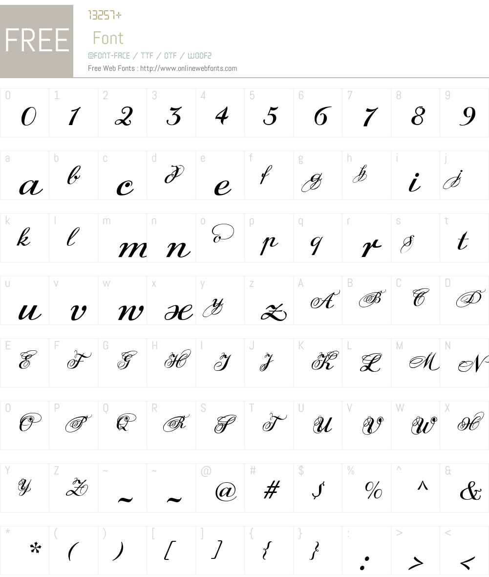 DonnaJulia Font Screenshots