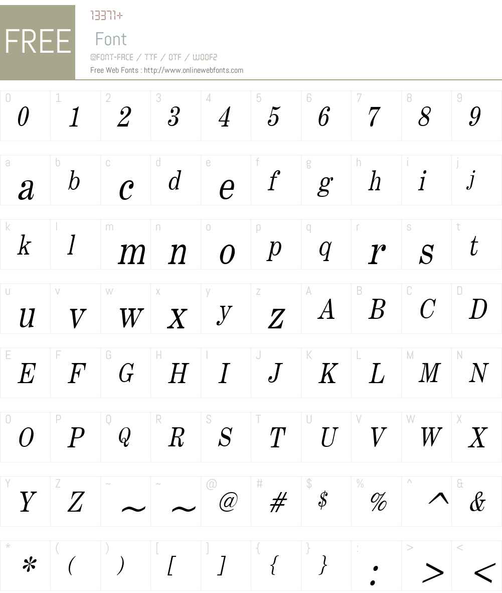 Annual Condensed Font Screenshots