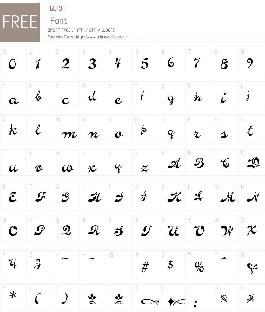 Novelty Script Font Screenshots