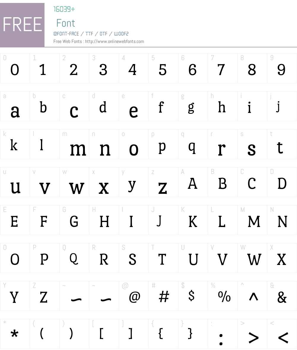Port Lligat Slab Font Screenshots