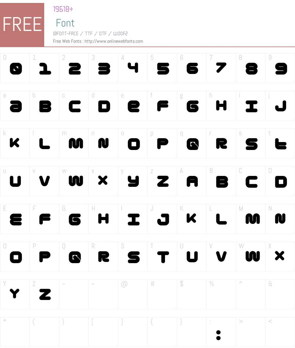 Gota Font Screenshots