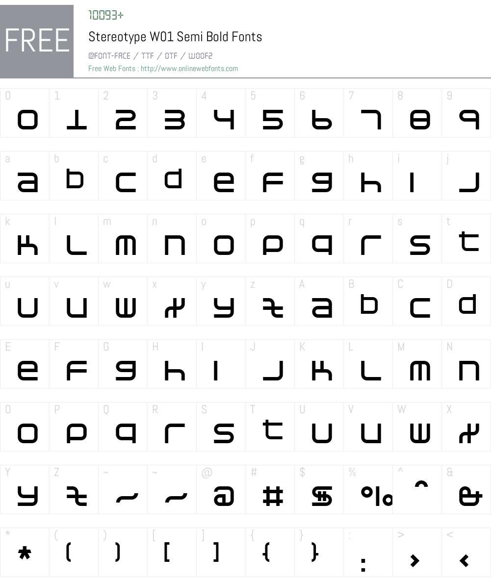 StereotypeW01-SemiBold Font Screenshots