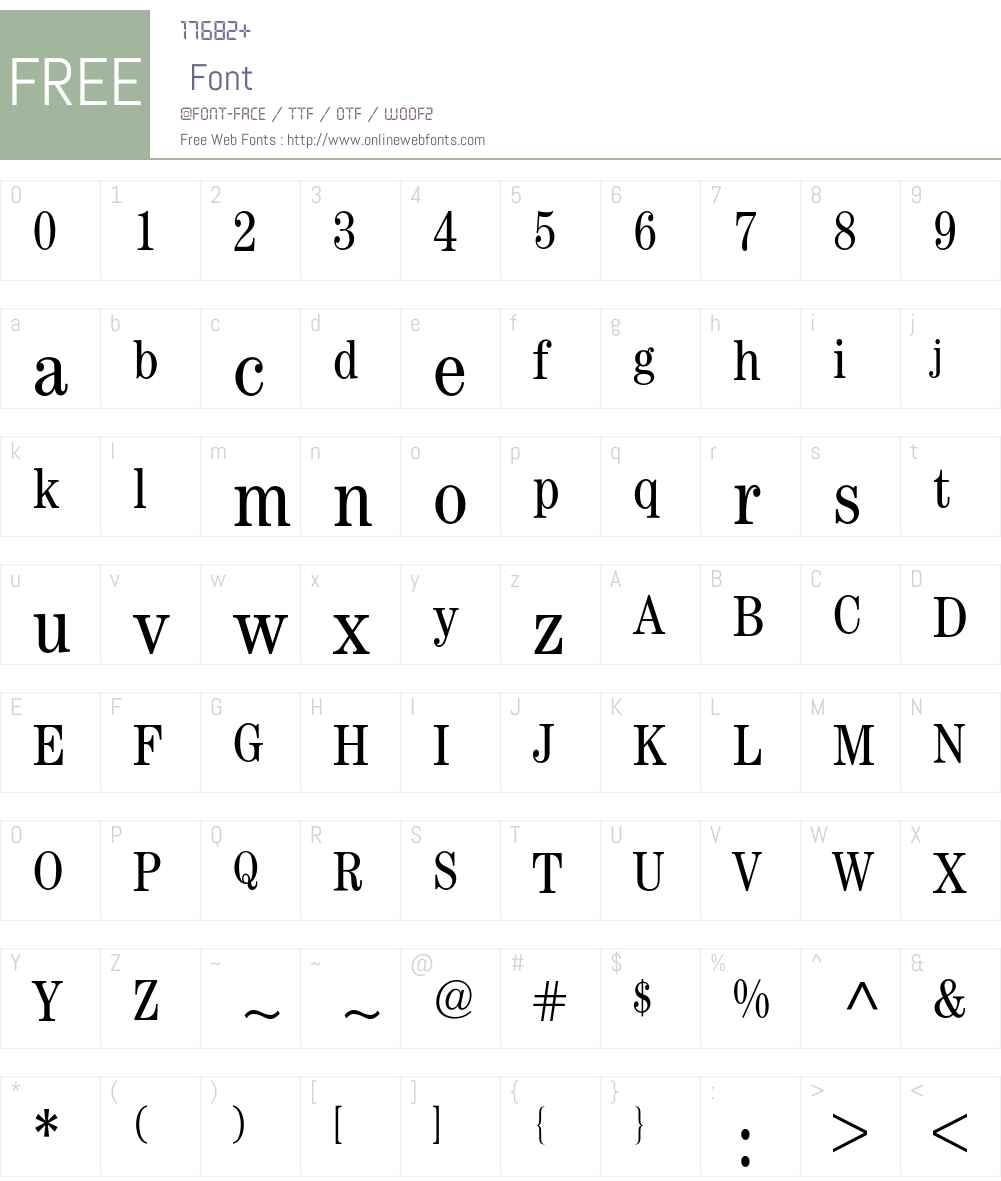 Century ITC BQ Font Screenshots
