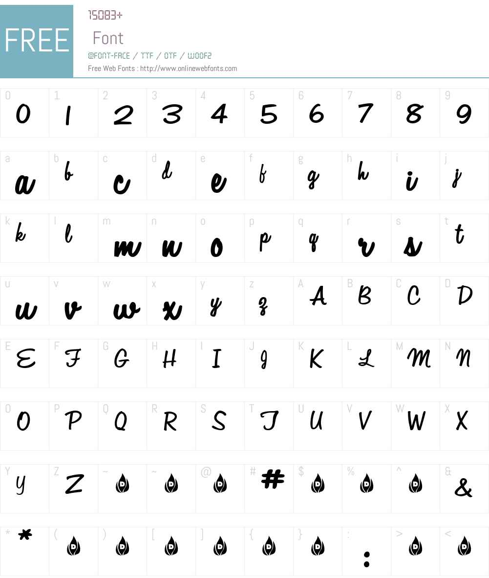 Automobile Font Screenshots