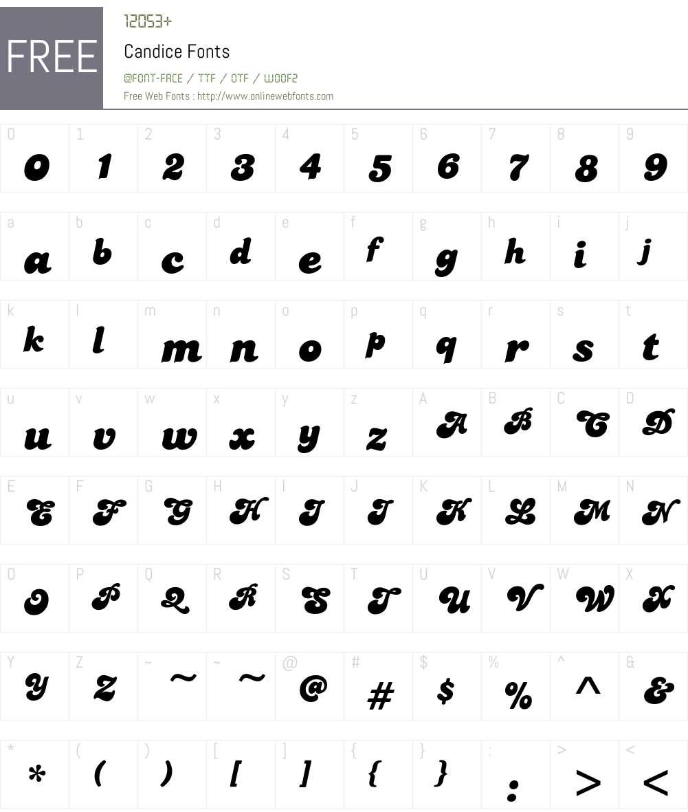 Candice Font Screenshots