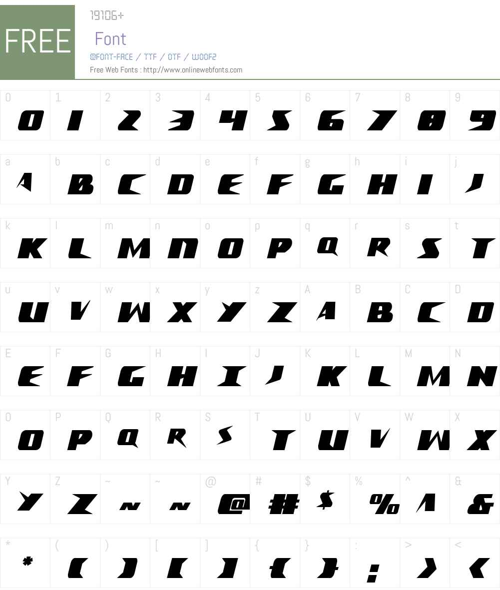 Crime Syndicate Extra-condensed Font Screenshots
