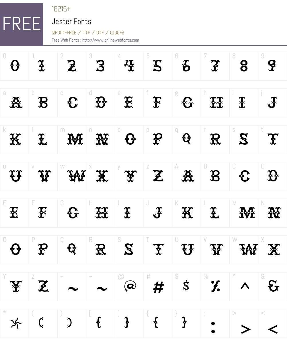Jester Font Screenshots