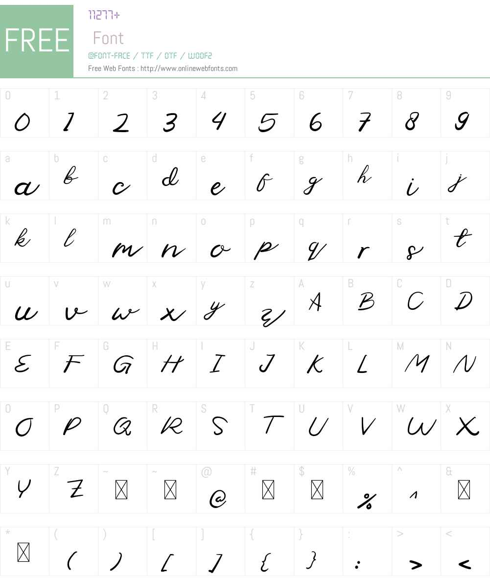 Moduss Personal Use Font Screenshots