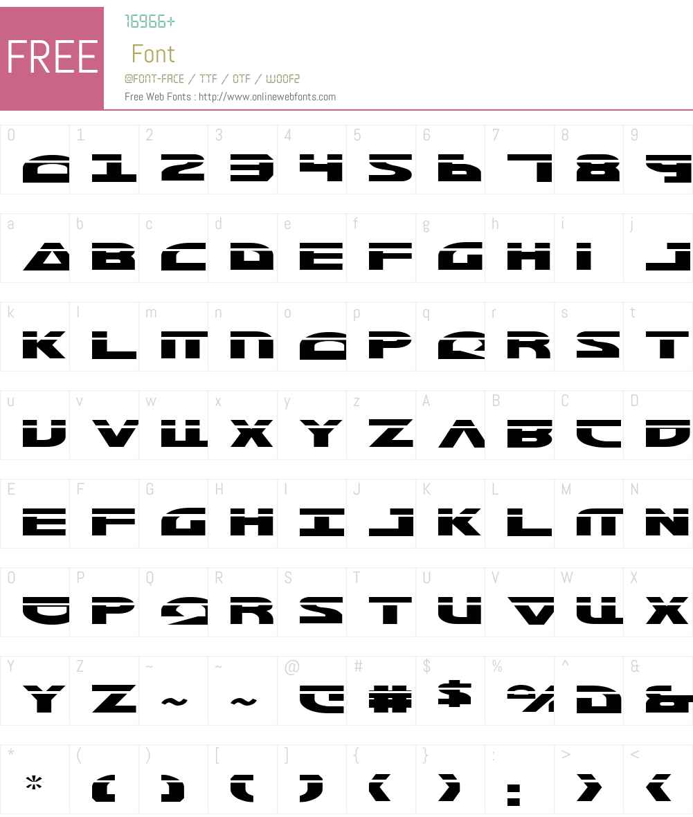 Morse NK Laser Font Screenshots