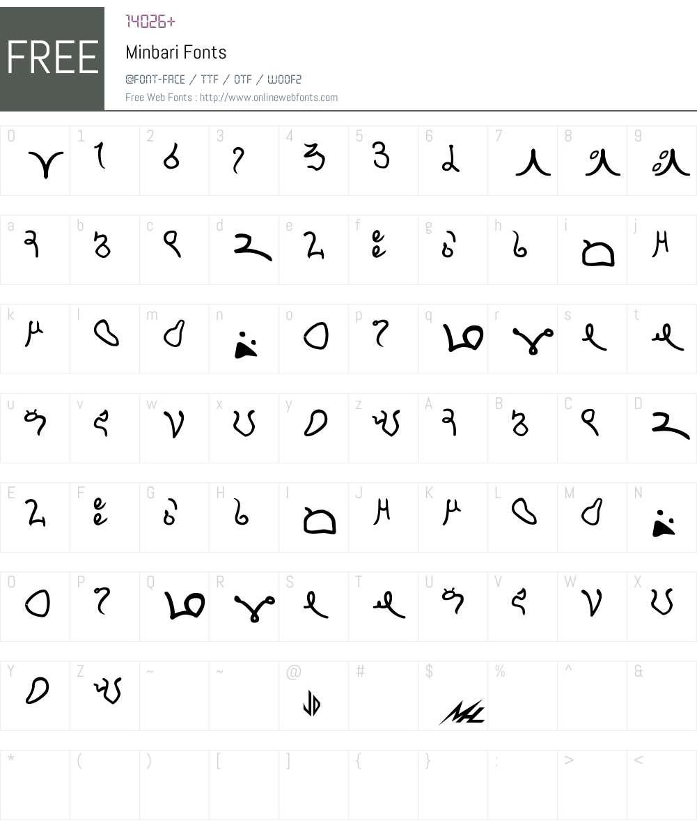 Minbari Font Screenshots