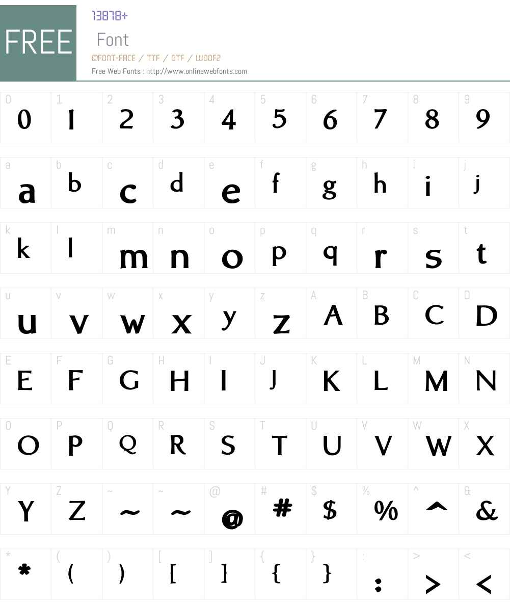 BrinarW01-Bold Font Screenshots