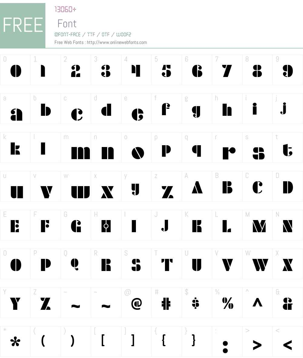 Densmore Font Screenshots