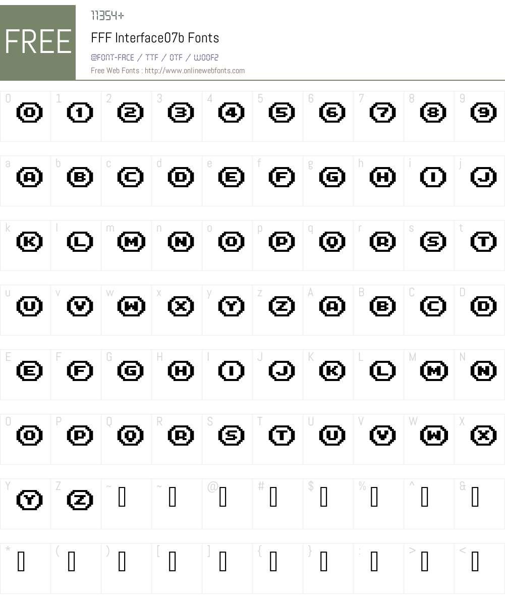 FFF Interface07b Font Screenshots