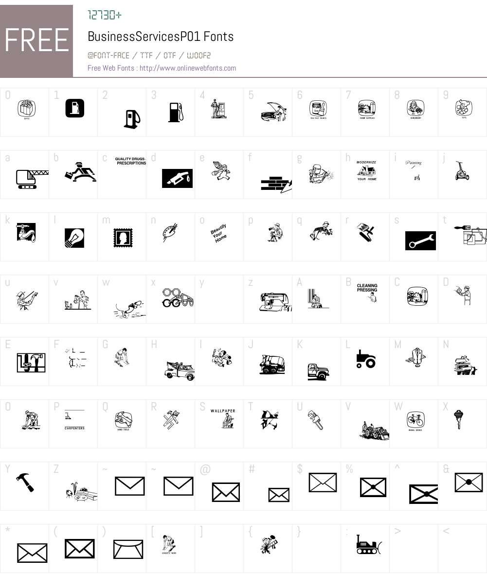 BusinessServices Font Screenshots