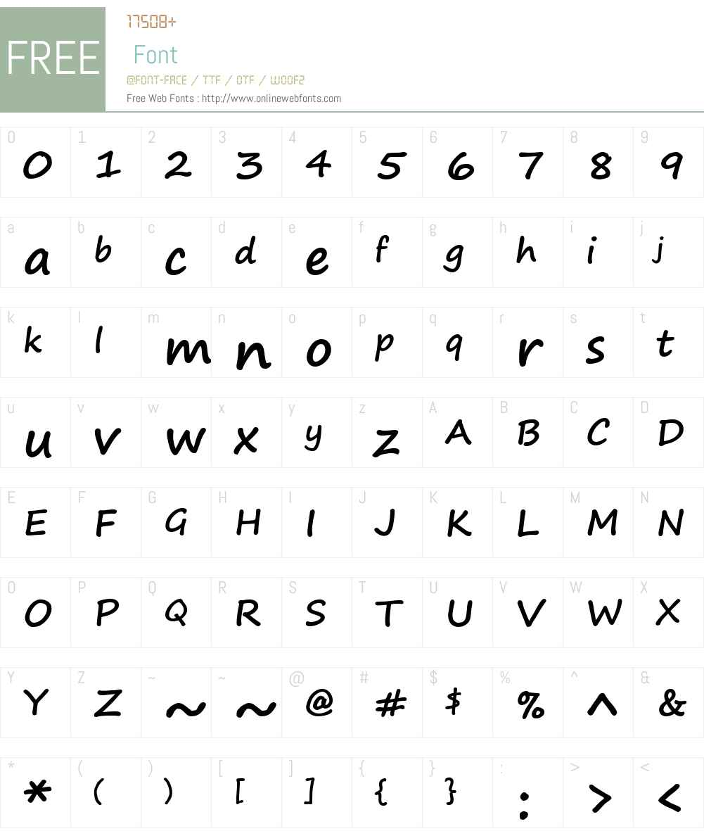 Segoe Print Font Screenshots