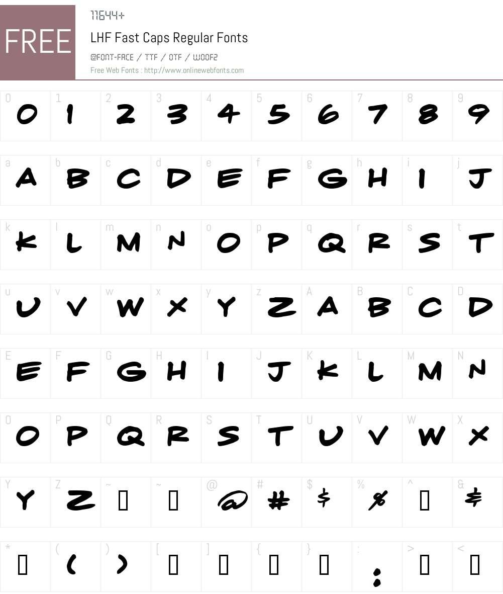 LHF Fast Caps Regular Font Screenshots