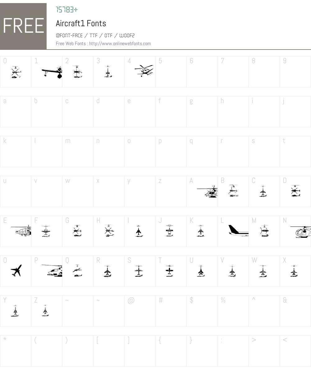 Aircraft1 Font Screenshots