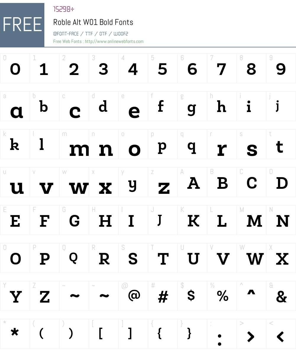 RobleAltW01-Bold Font Screenshots