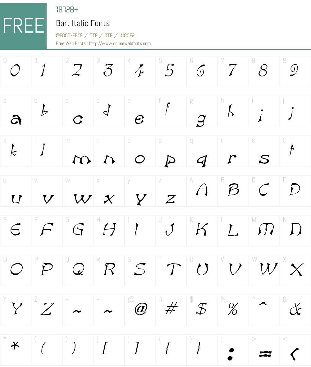 Bart Font Screenshots
