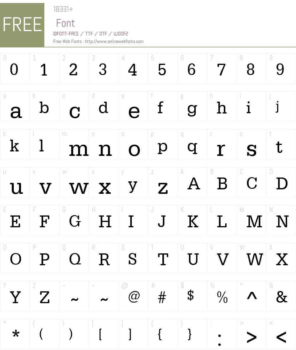 URWTypewriterW01-Narrow Font Screenshots