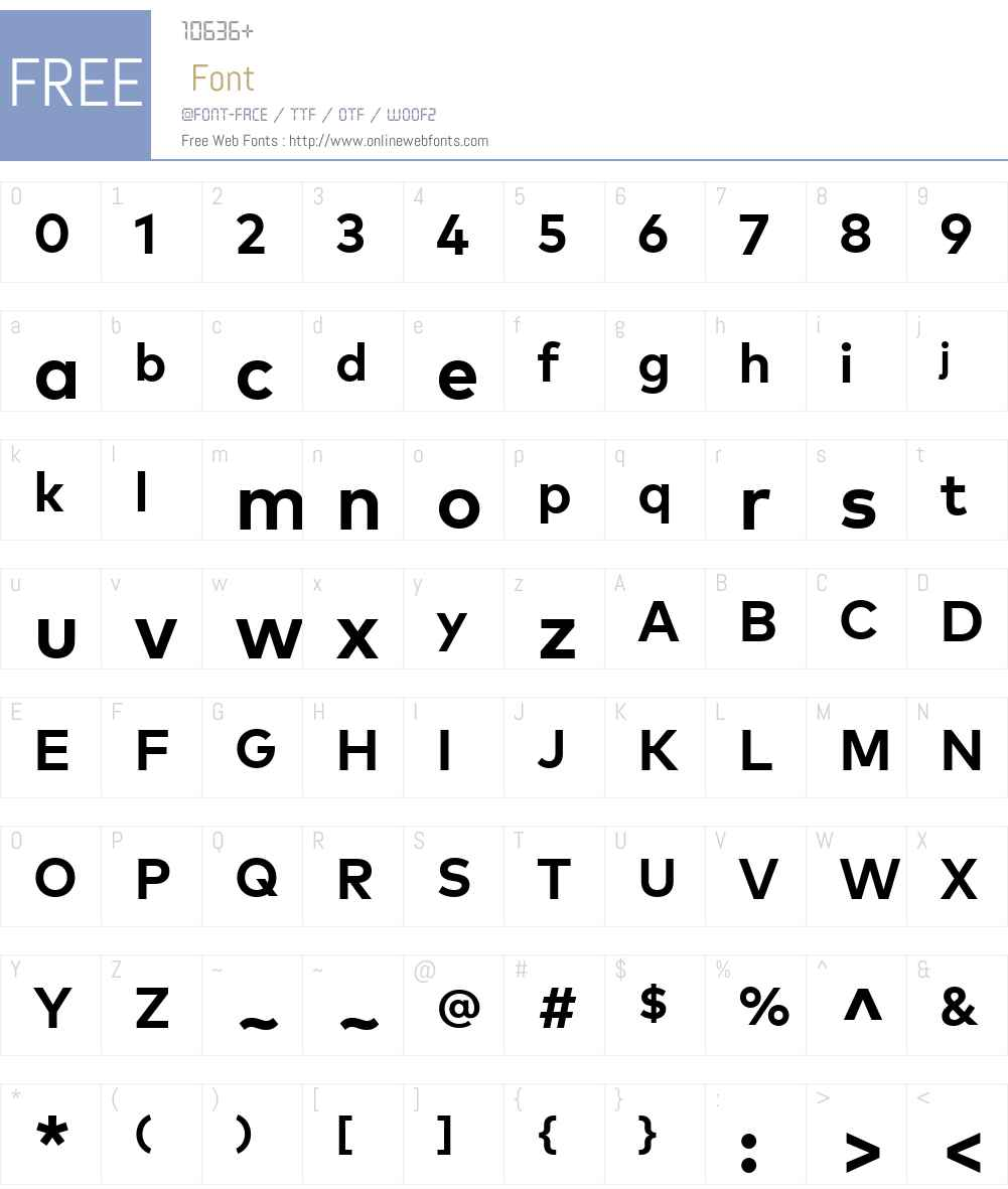 MarkW01-Bold Font Screenshots