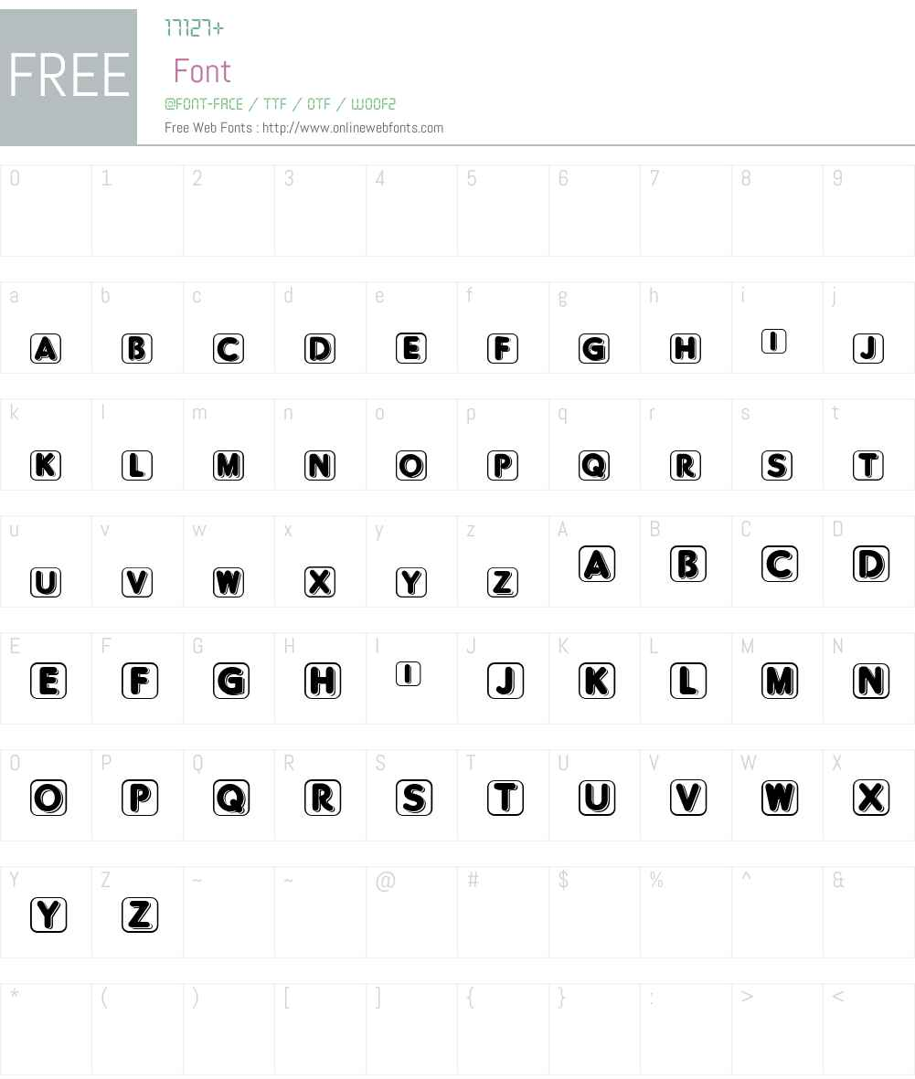 BlisteredFramed Font Screenshots
