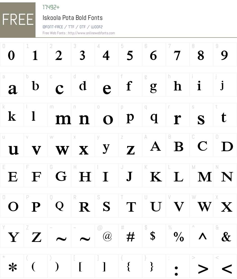 Iskoola Pota Font Screenshots