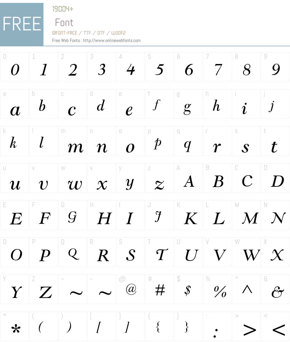 Goudy Modern MT Std Font Screenshots