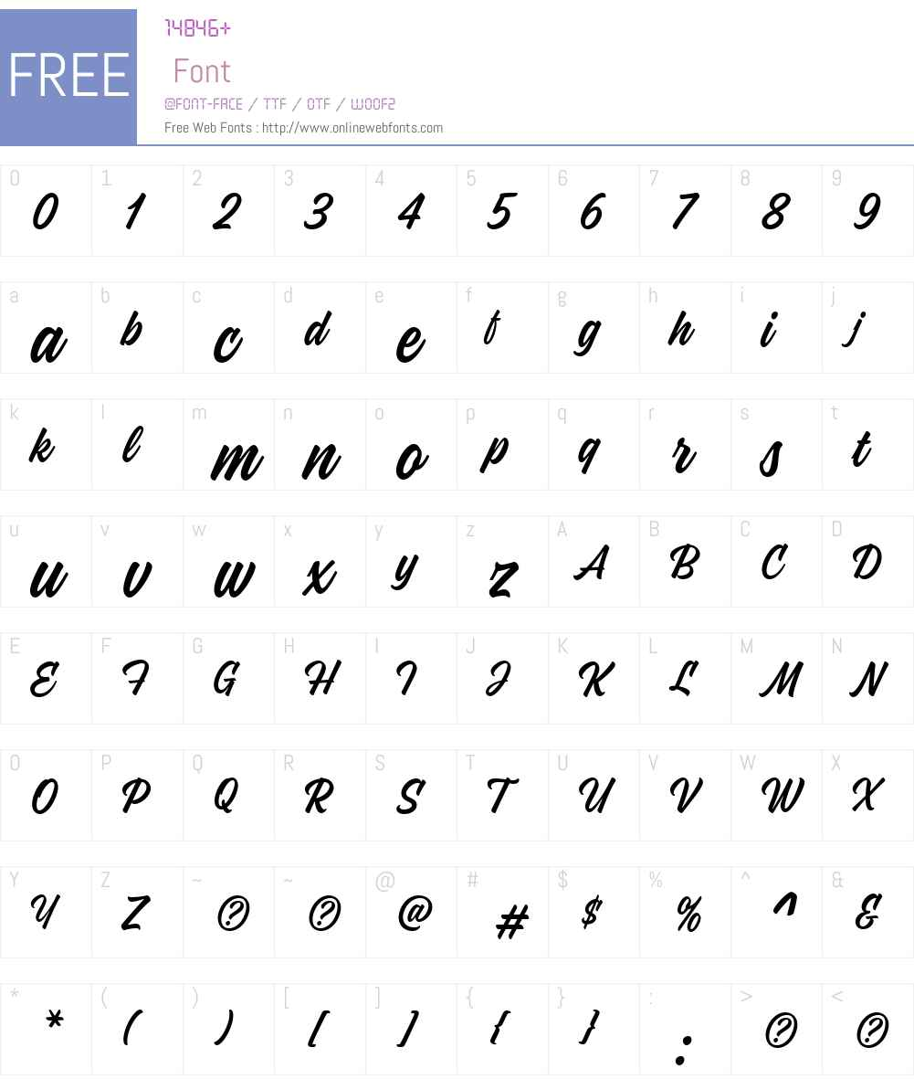 Kaleidos Font Screenshots
