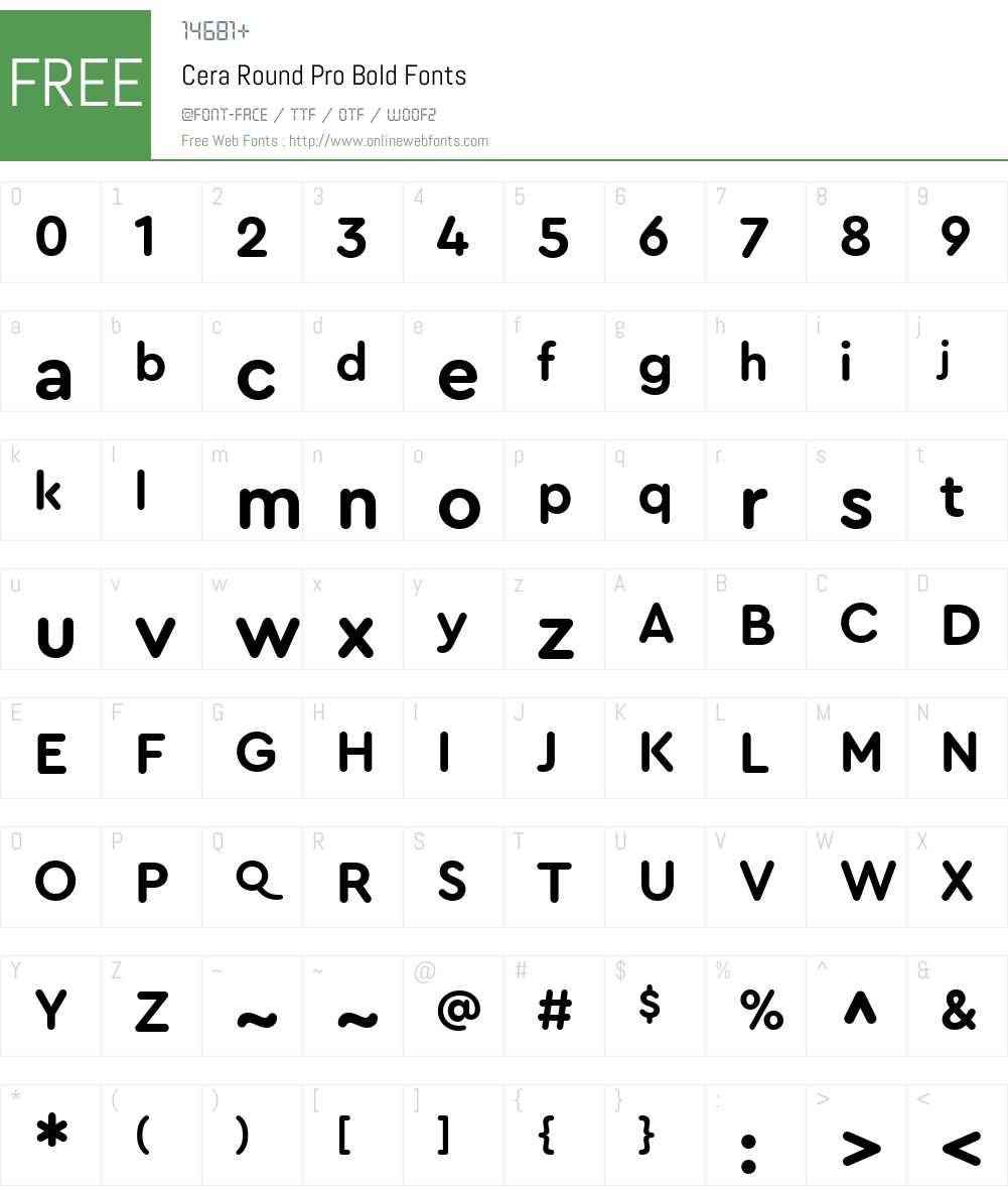 Cera Round Pro Font Screenshots