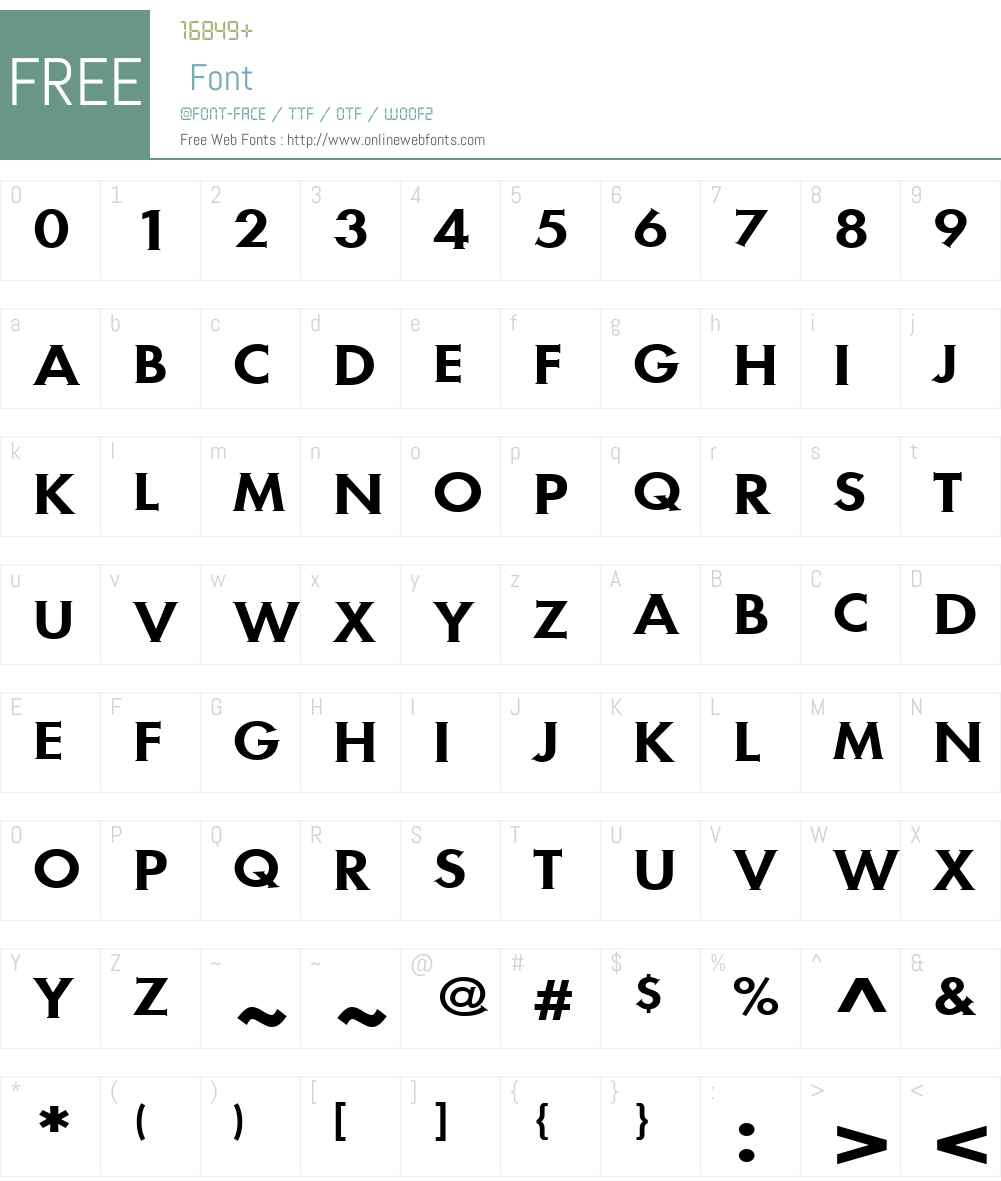 MetraSerifW01-MediumCap Font Screenshots