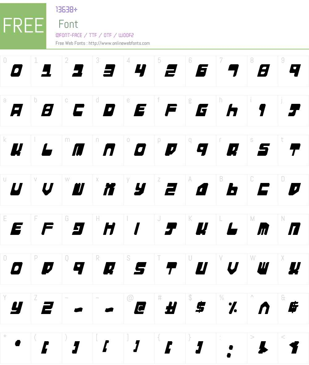 Extechchop Condensed Font Screenshots