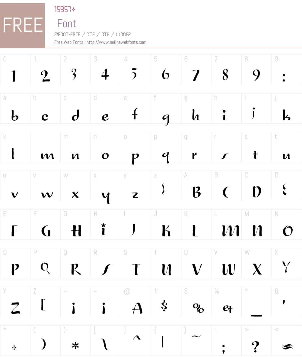 TruStar Font Screenshots