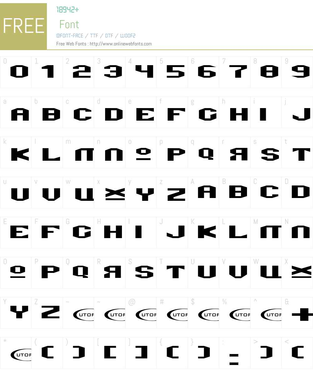 Valkyro Font Screenshots
