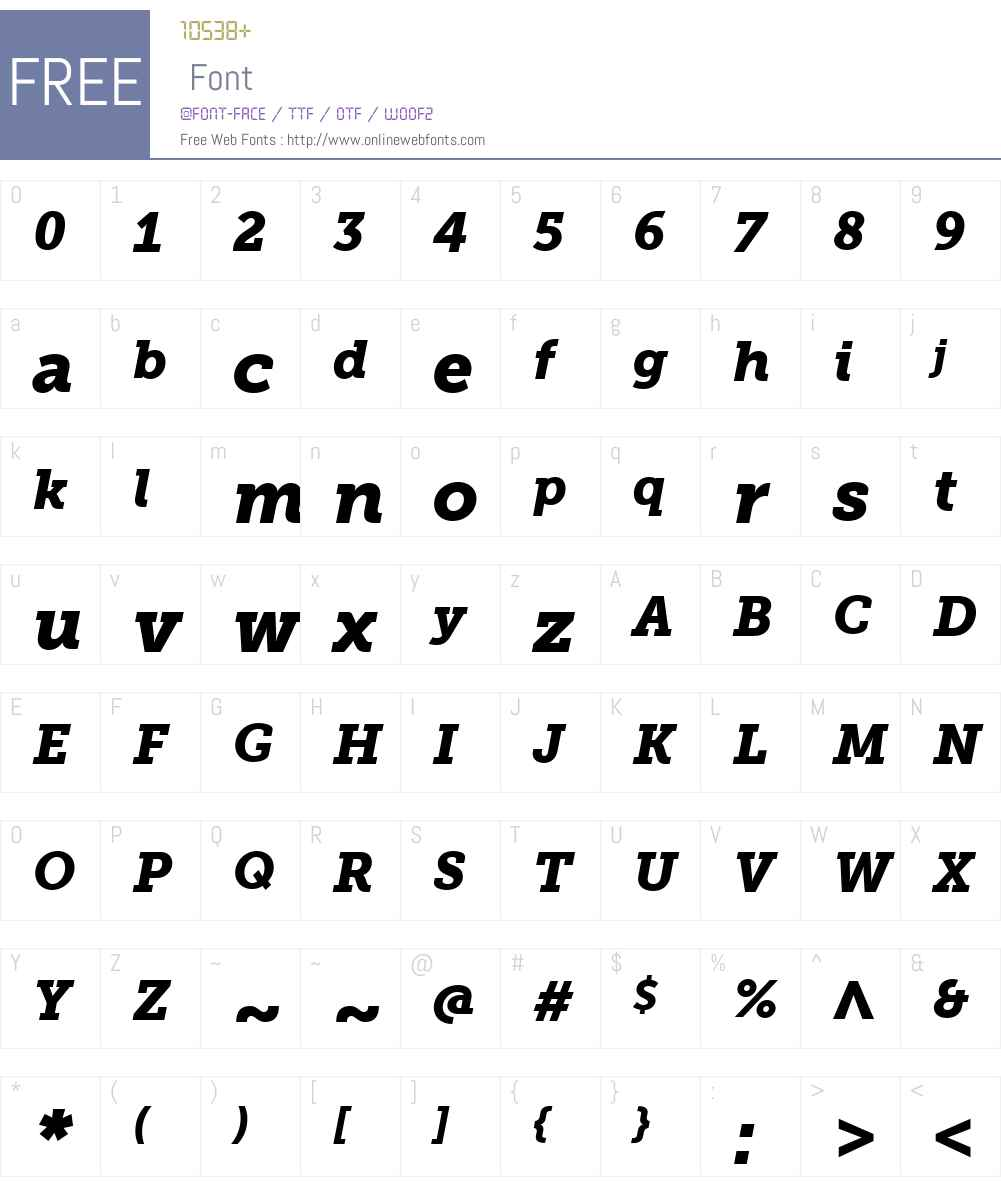 MuseoSlabW01-900Italic Font Screenshots