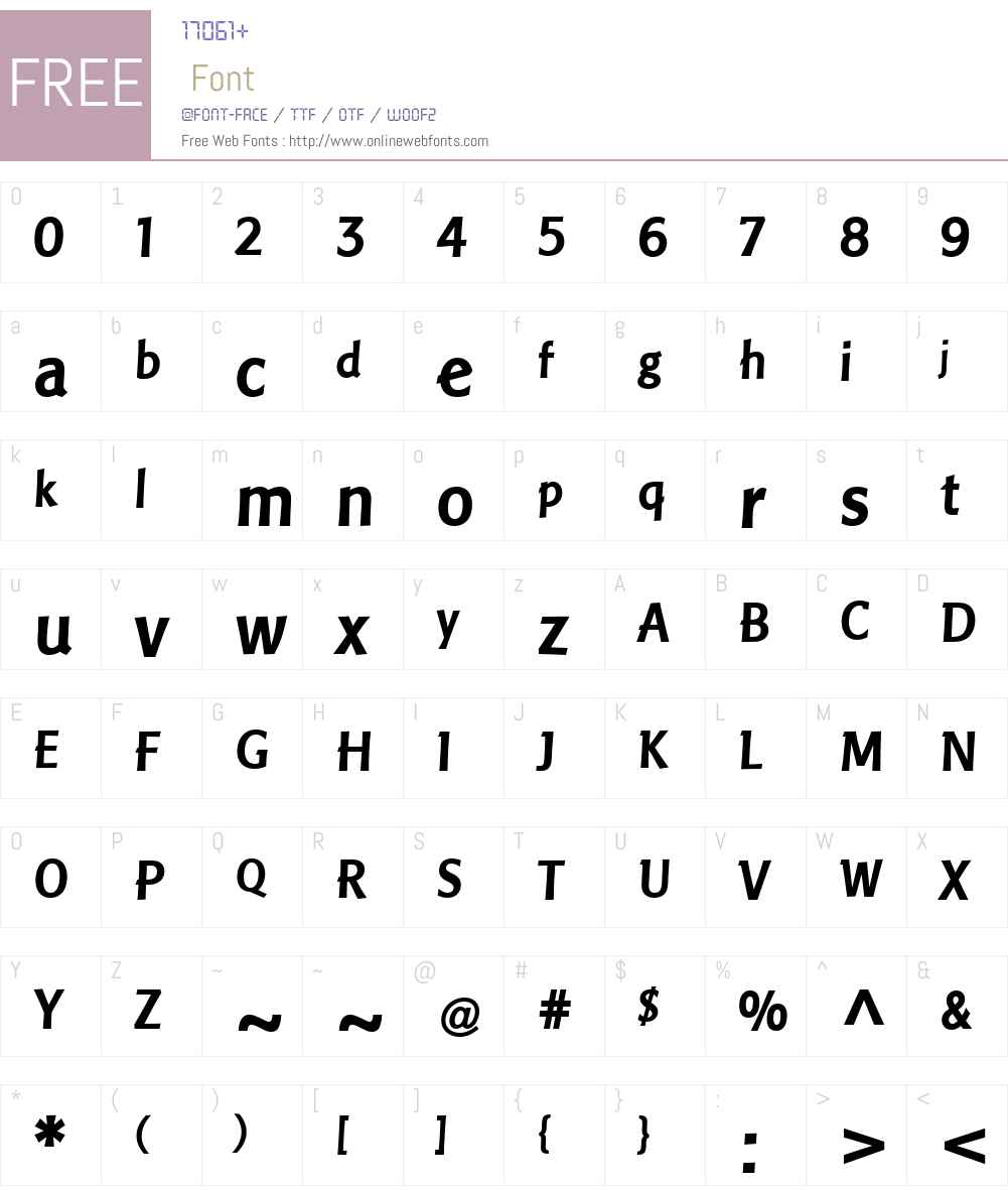 PisaLTW01-Bold Font Screenshots