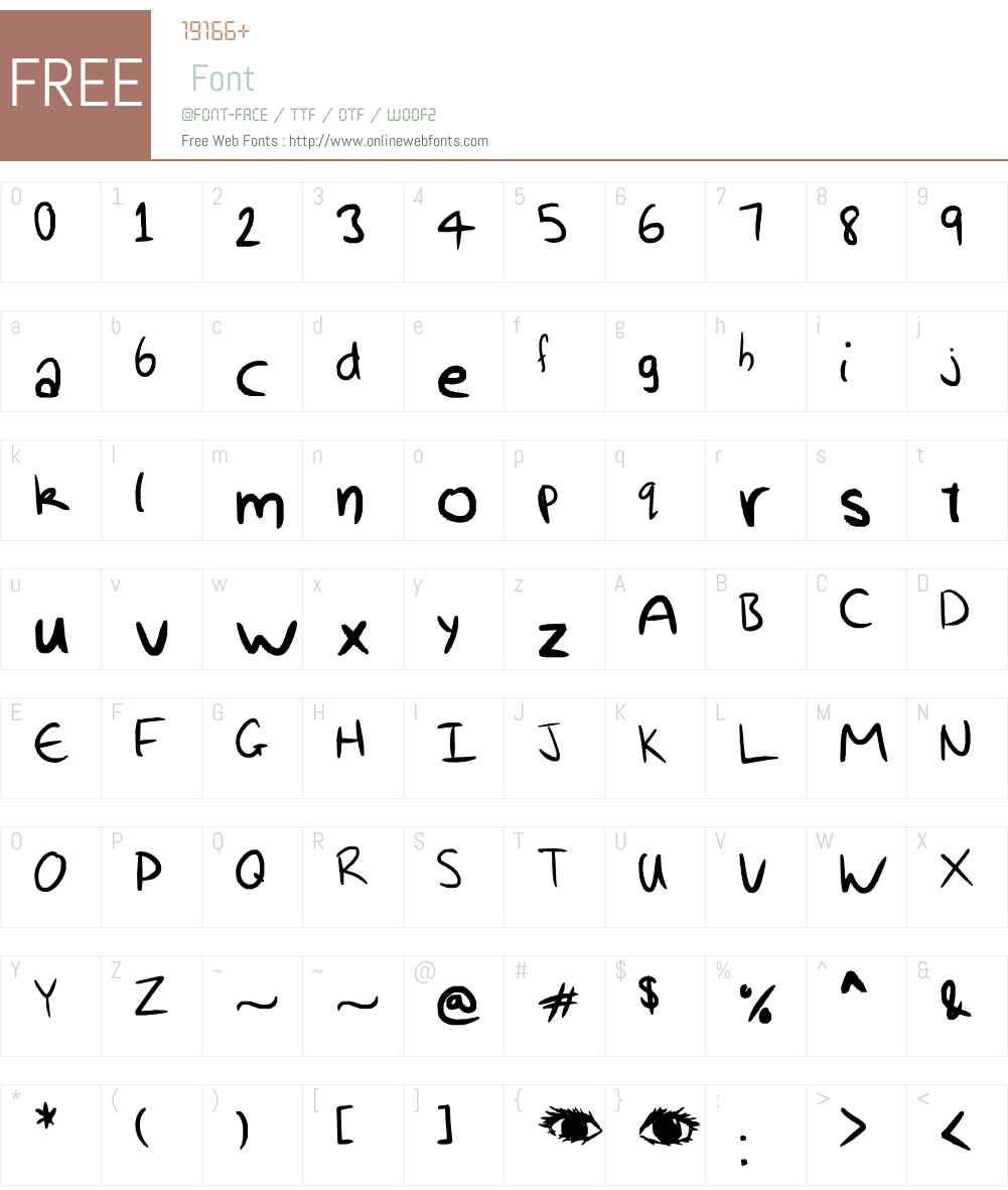 My awesomness handwriting Font Screenshots
