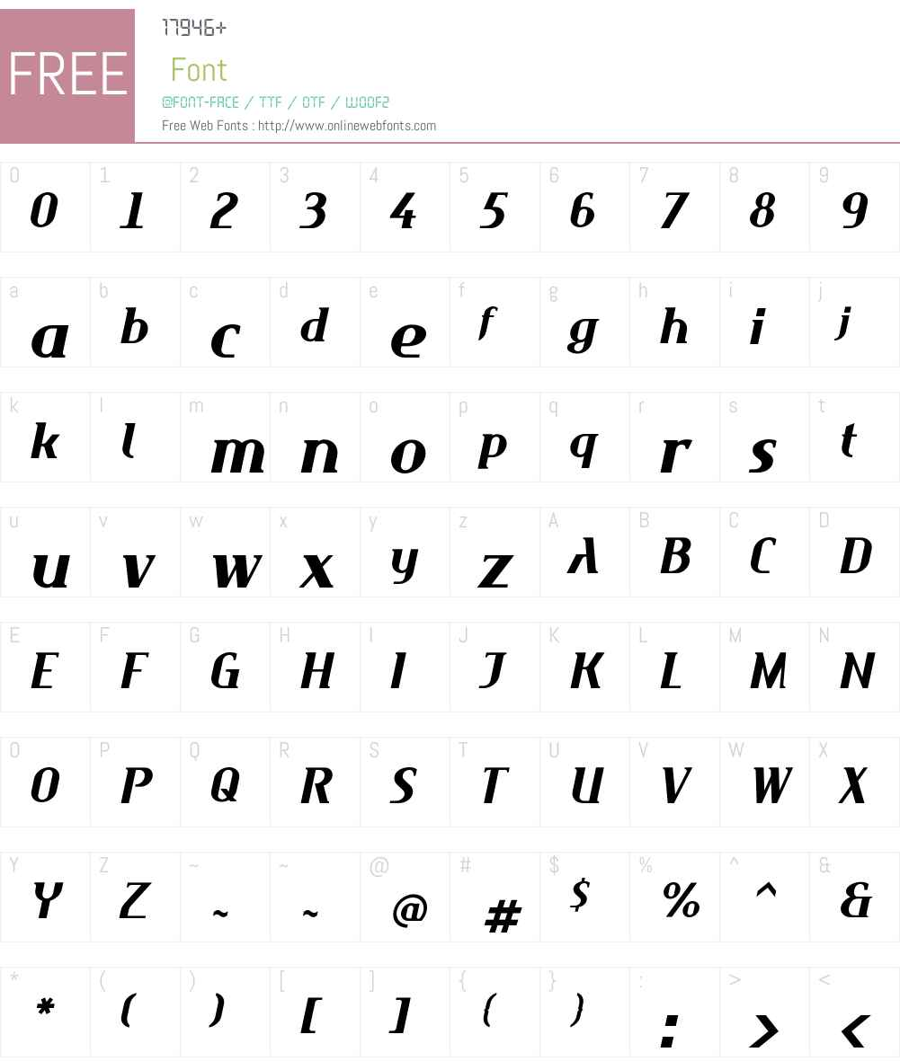 Maverick Font Screenshots