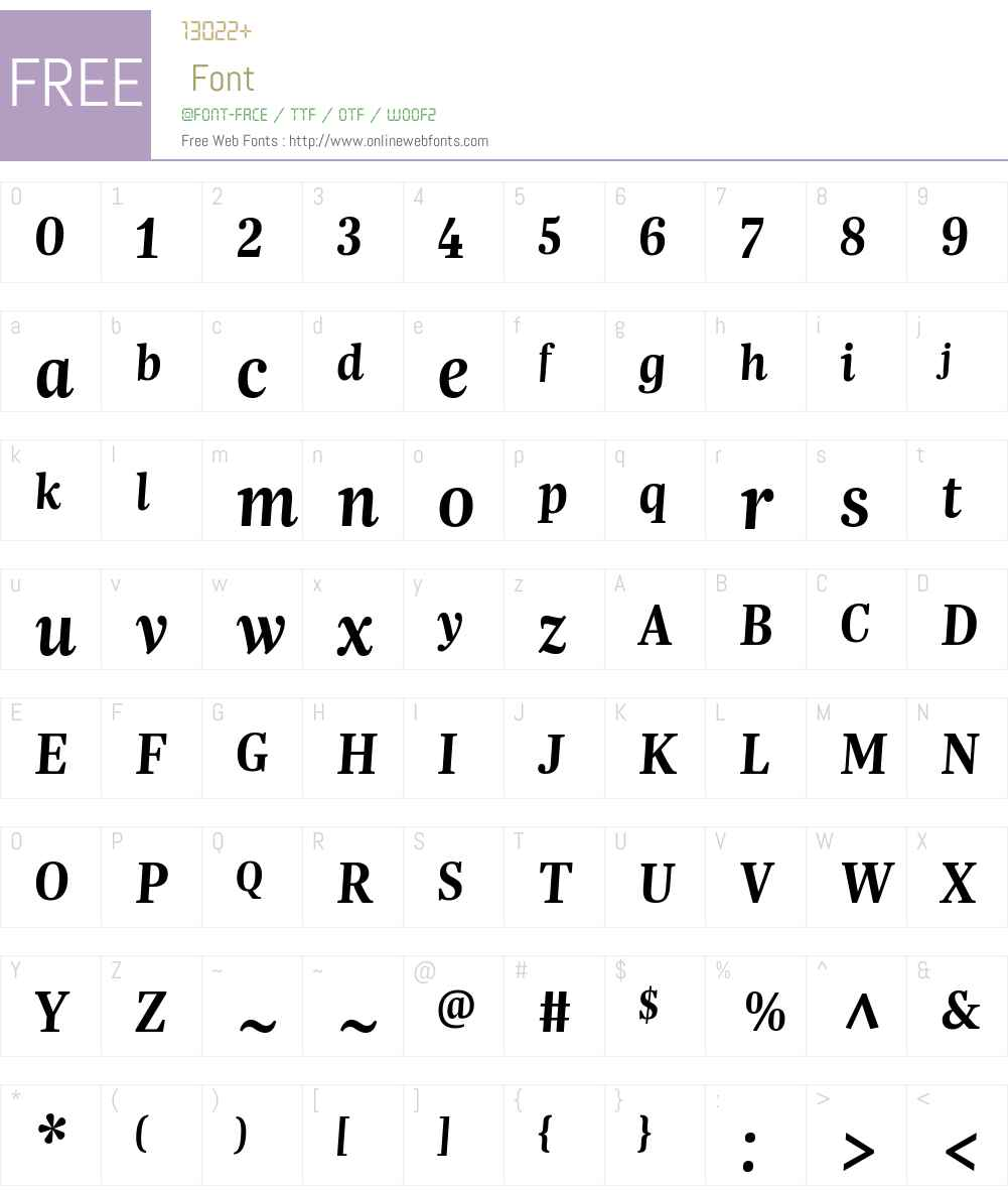 Trola Font Screenshots