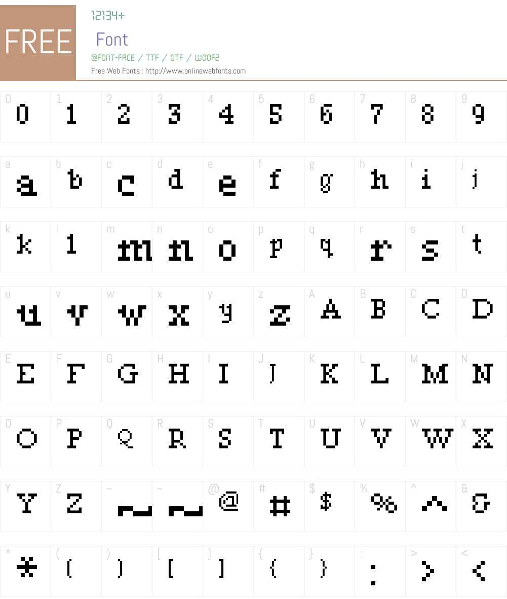 00Lunatix Font Screenshots