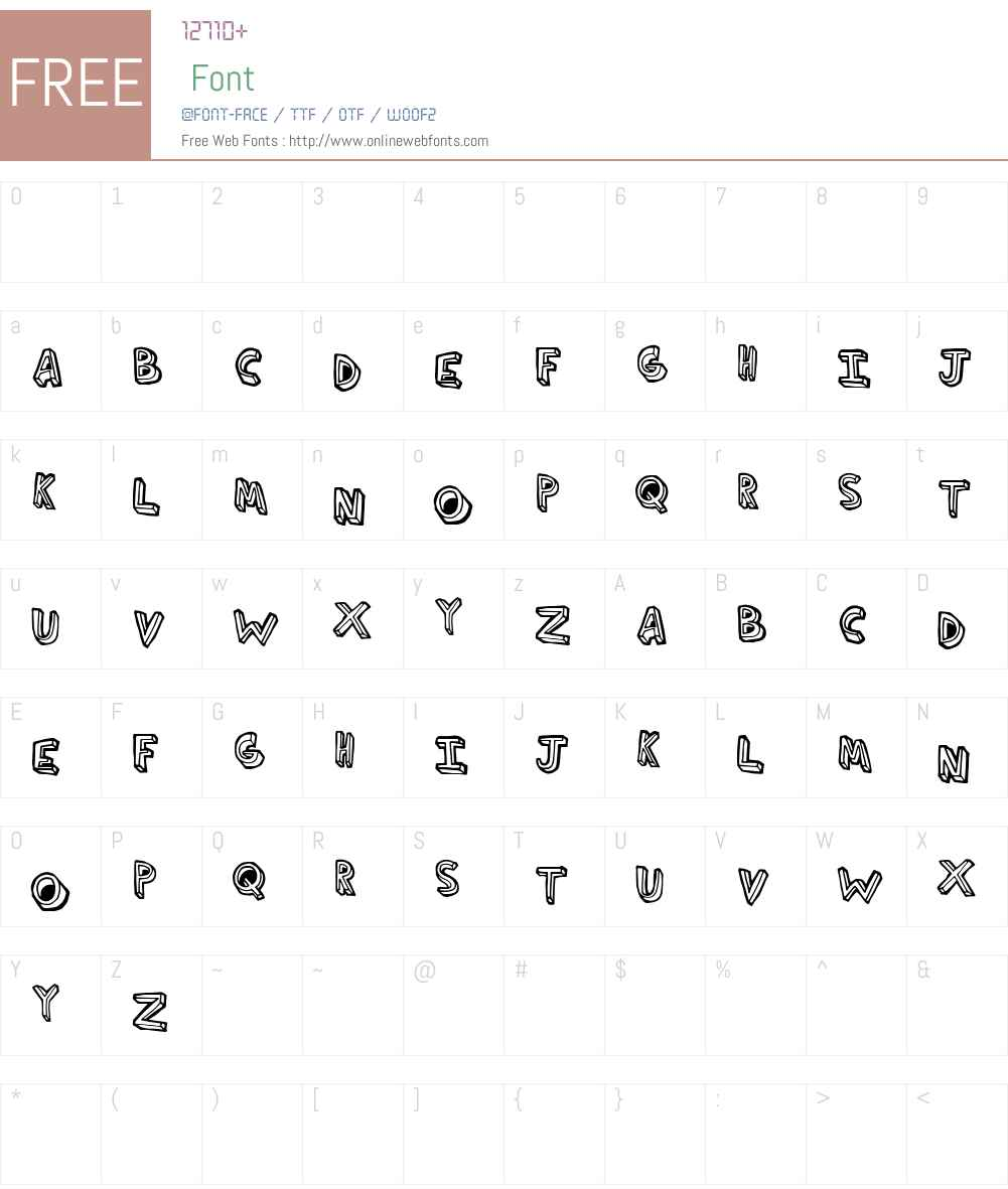 ThirdHand Font Screenshots