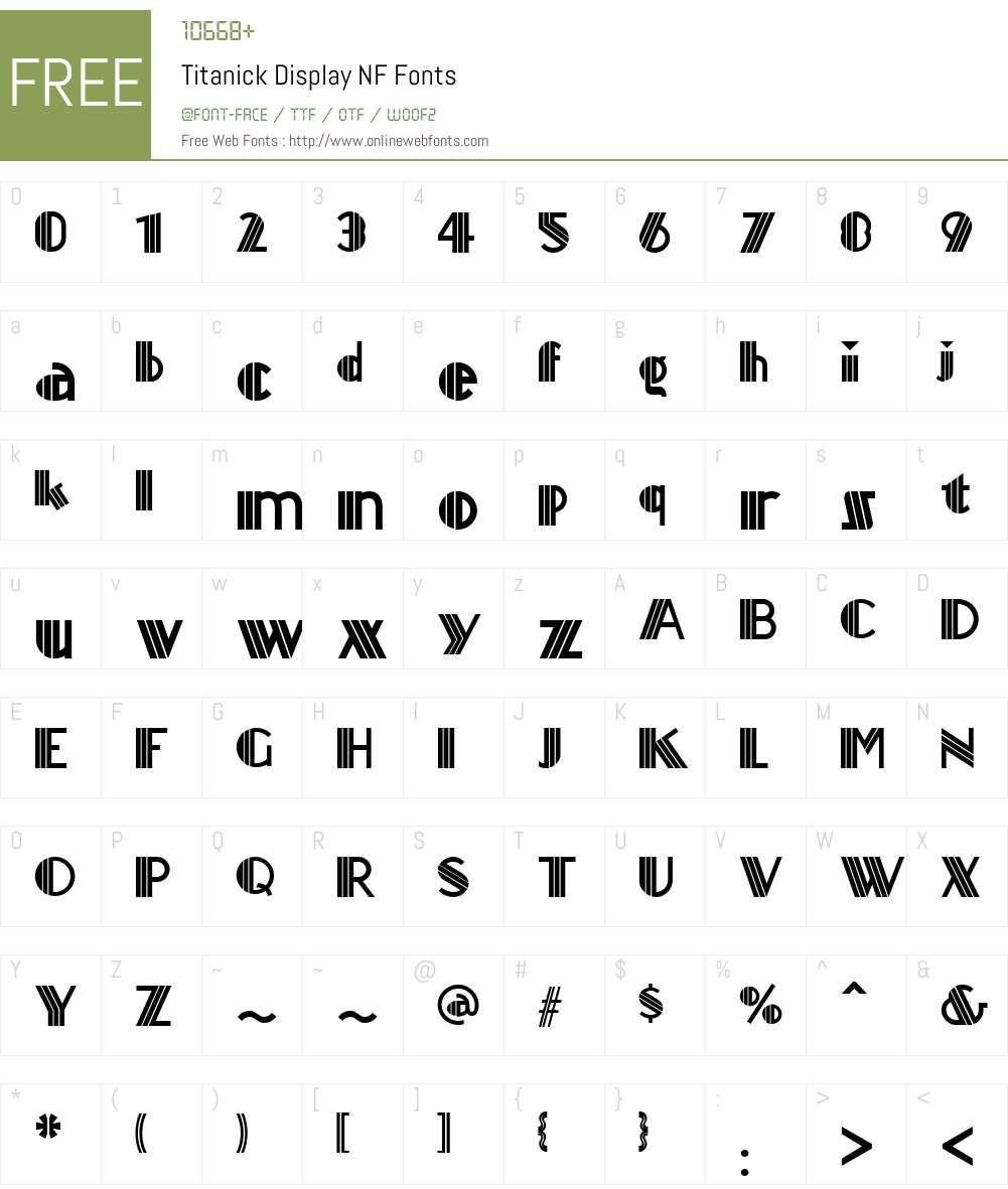 Titanick Display NF Font Screenshots