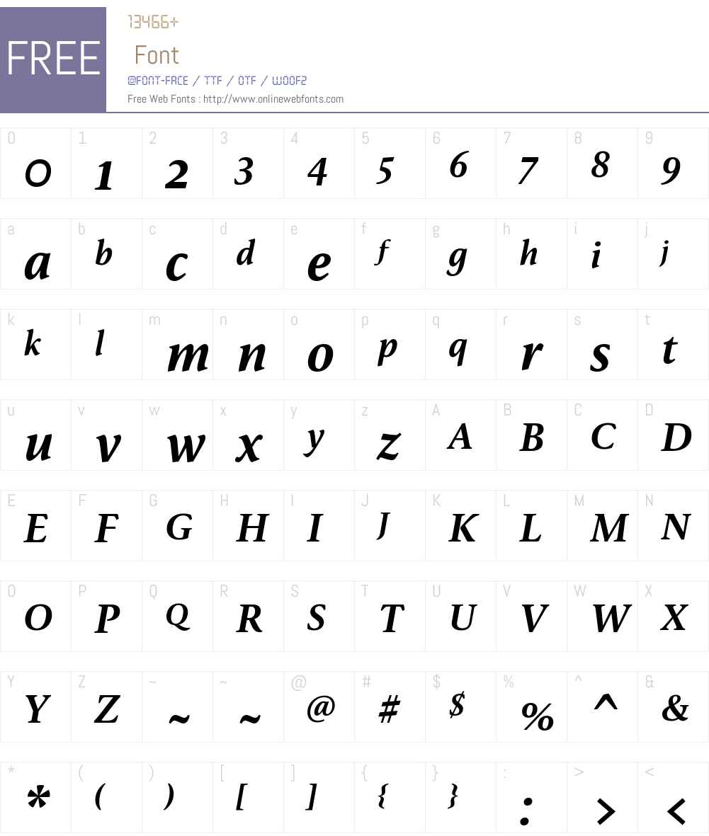 FF Reminga Font Screenshots