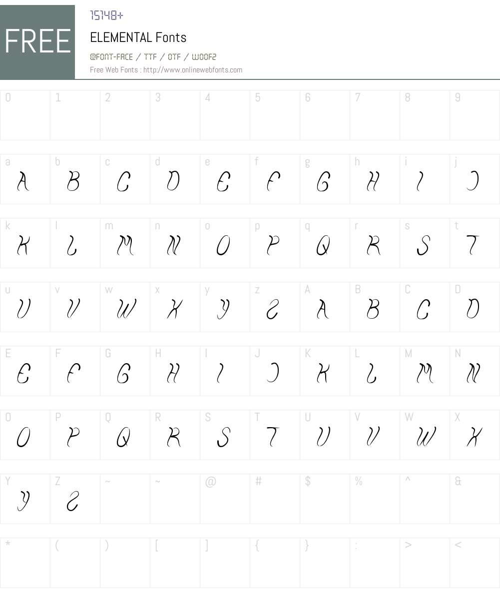 ELEMENTAL Font Screenshots