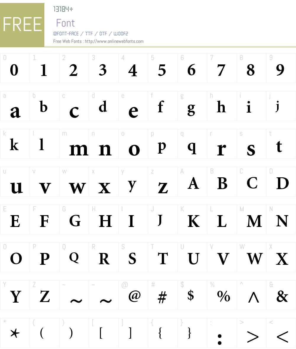 Minion Cyrillic Font Screenshots