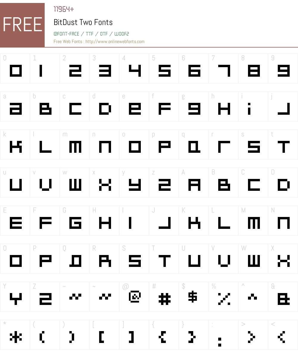 BitDust Two Font Screenshots