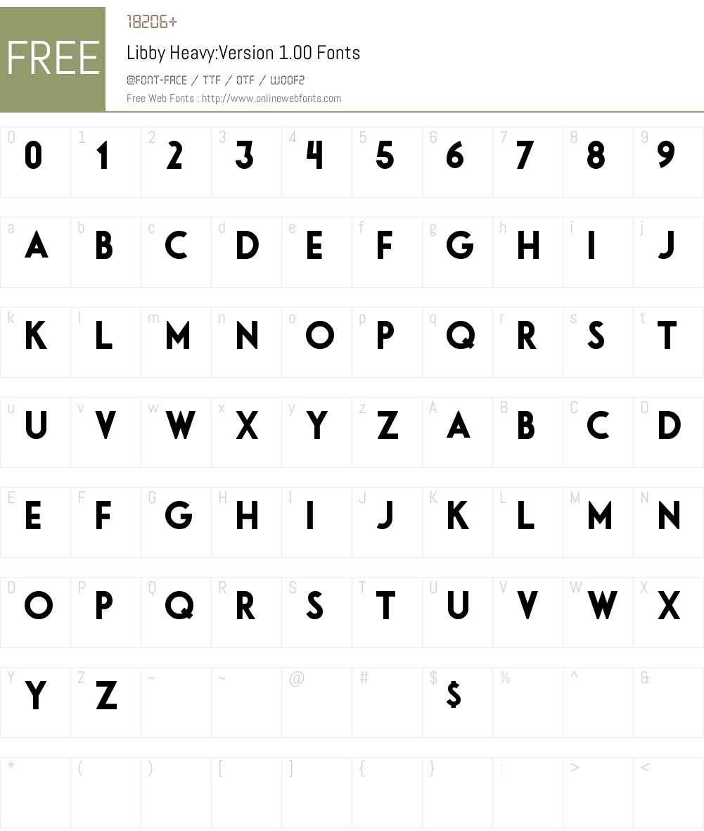 Libby Heavy Font Screenshots