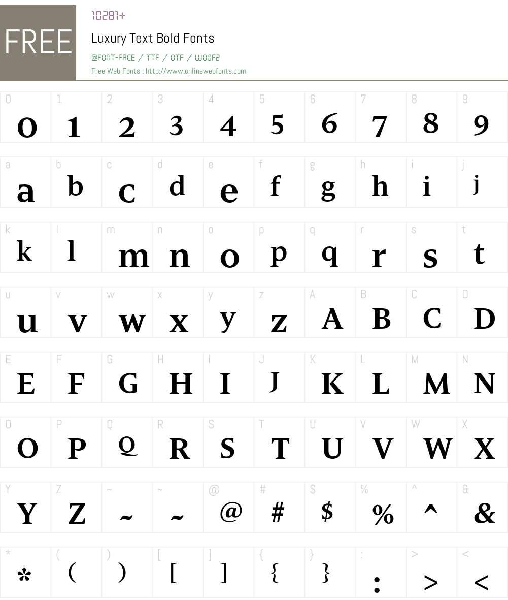 Luxury Text Font Screenshots