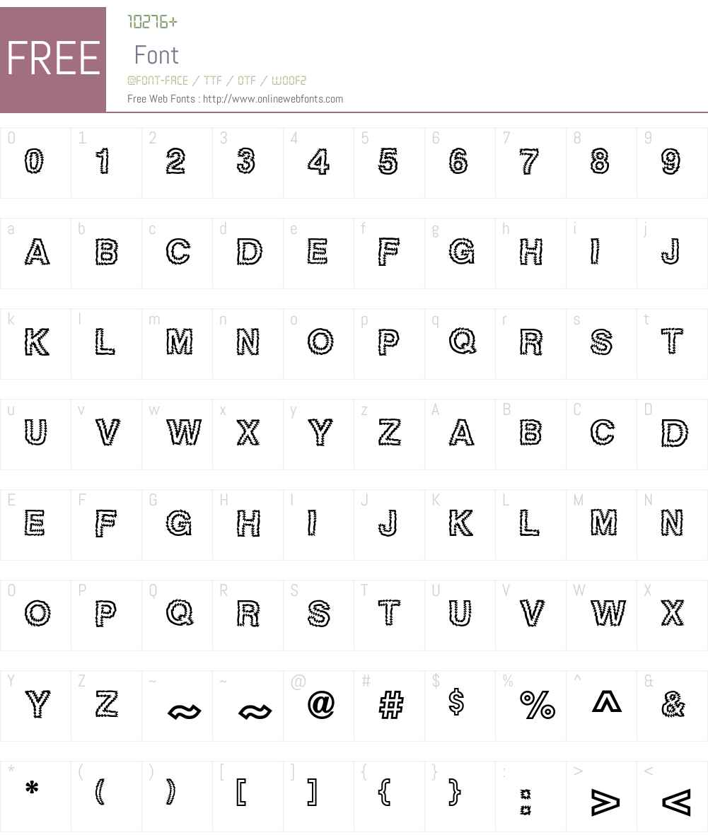 TigerteethICG Font Screenshots