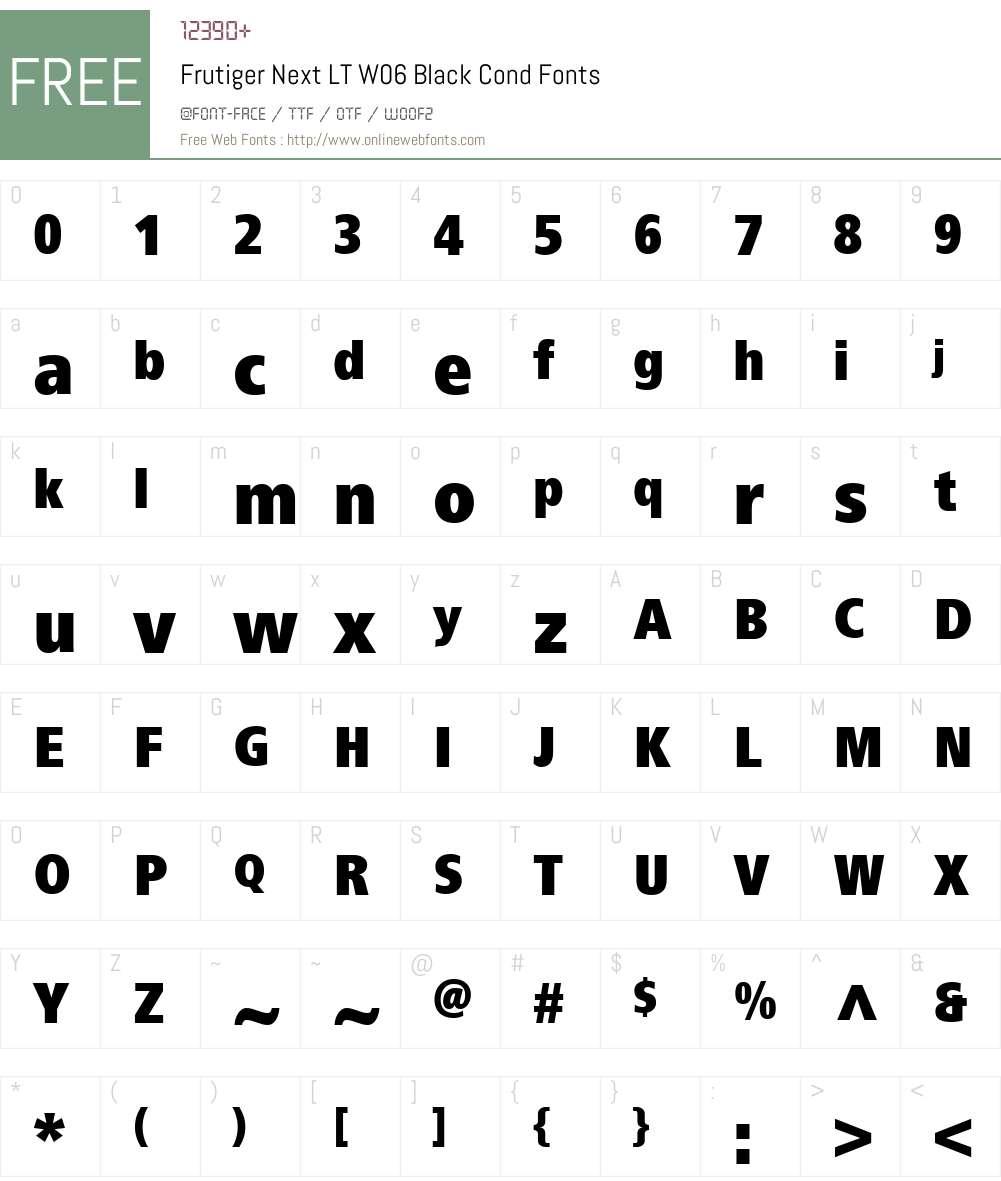 Frutiger Next Font Screenshots